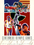 Olympic Modern Pentathlon, c.1996 Atlanta Print by Hiro Yamagata