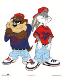 Looney Tunes Bugs Bunny and Tazmanian Devil Kris Kross Print