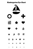 Kindergarten Eye Chart Reference Poster Prints