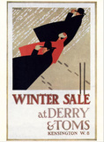 Winter Sale at Derry and Toms Art by E. Hauffer