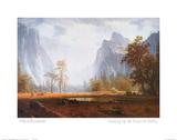 Looking Up the Yosemite Valley Billeder af Albert Bierstadt