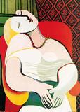 De droom Print van Pablo Picasso