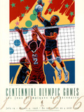 Olympic Volleyball, c.1996 Atlanta Poster by Hiro Yamagata