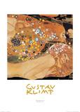 Water Serpents II Plakat af Gustav Klimt