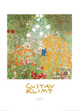 Jardin fleuri Poster par Gustav Klimt