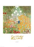 Flowery Garden Plakat av Gustav Klimt