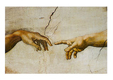 Creation of Adam Detail Affiches par Michelangelo Buonarroti