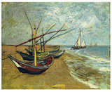 Boats Saintes-Maries Poster by Vincent van Gogh