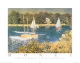 Lake Argenteuil Bassin D'Argenteuil Plakater av Claude Monet