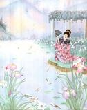Iris (Asian Garden) Print