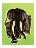 Elephants Print by Frank Mcintosh