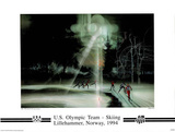 US Olympic Team Cross Country Skiing Lillehammer, c.1994 Posters by Robert Peak