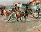 Cowboys (Gun Fight) Print