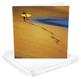 Surfer on Beach Greeting Cards 12 Per Package Juegos de tarjetas de notas