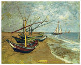 Boats Saintes-Maries Prints by Vincent van Gogh