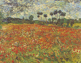 Field of Poppies Auvers-sur-Oise Poster par Vincent van Gogh