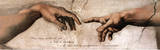 Creation of Adam Detail Quote Prints by  Michelangelo Buonarroti