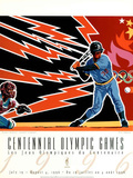 Olympic Baseball, c.1996 Atlanta Poster by Hiro Yamagata