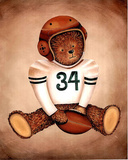 Teddy Bear Football Poster