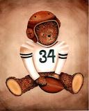 Teddy Bear Football Poster