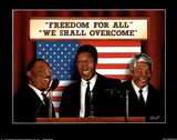 Freedom for All We Shall Overcome MLK Malcolm X Mandela アートポスター