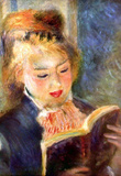 Pierre Auguste Renoir A Reading Girl 2 Art Print Poster Masterprint