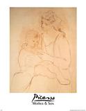 Mutter und Sohn Kunstdrucke von Pablo Picasso