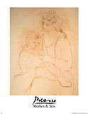 Mother and Son Prints by Pablo Picasso