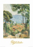 L'Estaque a Villa d'if Posters by Paul Cézanne