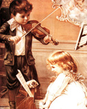 Music Lesson (Children Playing) Poster