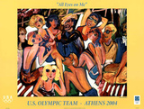 All Eyes on Me U.S. Olympic Team Athens 2004 Prints by Susan Manders
