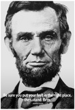 Abraham Lincoln Stand Firm Quote History Poster Prints