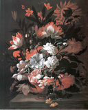 Still Life Of Tulips Prints by Simon Peeterz Verelst