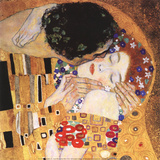 Gustav Klimt - Polibek (detail) Plakát