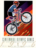 Olympic Mountain Bike Racing, c.1996 Atlanta Print by Hiro Yamagata