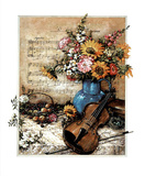 Music Floral no.  2 Poster