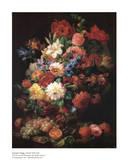 Stillleben mit Blumen Poster von Joseph Nigg