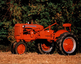 Orange Tractor (In Field) Posters