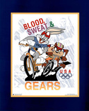 Looney Tunes Olympics Bugs & Taz Blood Sweat & Gears Prints