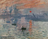 Impression Rising Sun Prints by Claude Monet