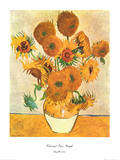 Vase with Fifteen Sunflowers Poster von Vincent van Gogh