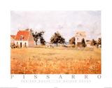 La casa rossa Stampe di Camille Pissarro