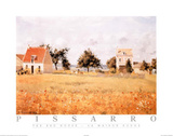 The Red House Prints by Camille Pissarro