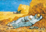 La Siesta Prints by Vincent van Gogh