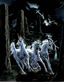 Unicorn Fantasy lightning Posters by Sue Dawe