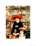 Two Sisters on the Terrace Plakater af Pierre-Auguste Renoir