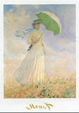 Woman with Sunshade Print by Claude Monet