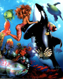 Mermaid Whale Fantasy Nude Posters by Dan McManis