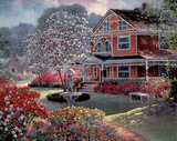 Red Victorian House (Landscape) Posters