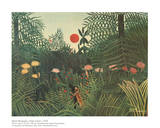 Virgin Forest Pster por Henri Rousseau